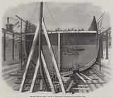 The New Iron-Clad Fleet, framing of Her Majesty's Steam-Frigate Achilles, 50 Guns
