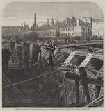 Bursting of the Fleet Ditch and Destruction of Part of the Metropolitan Railway, Scene of the Accident