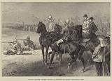 Mounted Volunteer Riflemen shooting at Wimbledon for Colonel Loyd-Lindsay's Prize