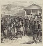 The War in the Herzegovina, Turkish Soldiers bringing in Prisoners