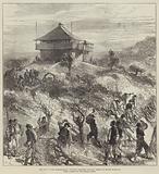 The War in the Herzegovina, Turkish Soldiers felling Trees on Mount Karaula