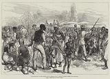 Reminiscences of the Kaffir War in South Africa, feeding Kaffir Women and Children
