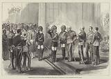 Presentation of Native Indian Officers to the Duke of Cambridge in the Governor's Palace, Malta