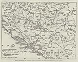 Map to illustrate the Austrian Military Occupation of Bosnia and Herzegovina