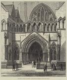 The Royal Courts of Justice, the Principal Entrance from the Strand