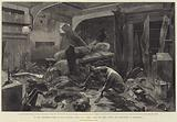 In the Commander's Cabin of HMS Alexandra, Effect of a Shell from the Forts, during the Bombardment of Alexandria