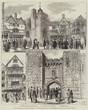 """The International Health Exhibition at South Kensington, """"Reproduction of London in the Olden Time"""""""
