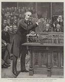 Mr Gladstone explaining to the House of Commons his Scheme for the Government of Ireland, Thursday, 8 April