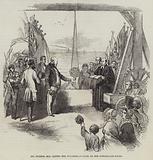 Mr Hudson, MP, laying the Foundation-Stone of the Sunderland Docks