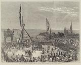 """The Laying of the Foundation Stone of """"Victoria Tower,"""" Guernsey, on Her Majesty's Birthday"""