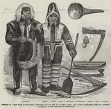 Costume of a New Tribe of Esquimaux, discovered by Dr Rae, on Victoria Land