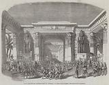 """Scene from the New Egyptian Drama of """"Nitocris,"""" at Drury-Lane Theatre, the Coronation Procession"""