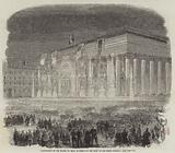 Illumination of the Bourse, at Paris, in Honour of the Birth of the Prince Imperial
