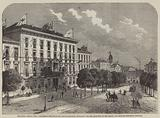 The Royal Bridal Tour, Frederick William-Place, Aix-La-Chapelle, decorated for the Reception …