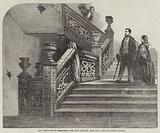 The Queen's Visit to Birmingham, the Great Staircase, Aston Hall