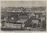 Bird's-Eye View of Exeter College, Oxford University