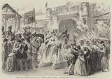 """Scene from """"Henry the Fifth"""" at the Princess Theatre, Henry V entering London after the Battle of Agincourt"""
