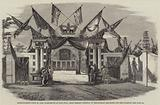Entertainment given to Lord Elphinstone at Sans Souci, near Bombay, Gateway of the Mansion …