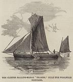 "The Clipper Sailing-Barge ""Thames,"" built for Woolwich Dockyard"