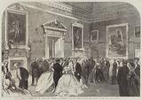 Ball in Honour of the Prince and Princess of Wales at Holkham House, Norfolk, the Mansion of the Earl of Leicester