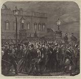 The Brighton Railway Station on the Saturday Night before the Volunteer Review