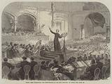 Franz Liszt conducting the Performance of his New Oratorio at Pesth