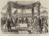 The Earl of Pembroke laying the Foundation-Stone of the Herbert Memorial Hospital at Bournemouth