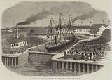 Opening of a New Graving-Dock at Jarrow, on the Tyne