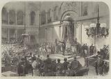 King Leopold II taking the Oath before the Belgian Senate and Chamber of Deputies