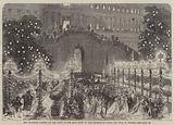The Tuileries Gardens on the Night of the Ball given to the Emperor of Russia and King of Prussia