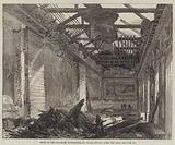 Ruins of the Ball-Room, Northumberland House, Strand, after the Fire