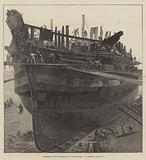 "Breaking up the Hospital-Ship ""Dreadnought"" at Chatham Dockyard"