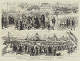 Festivities at Boston, beginning the Construction of the New Dock
