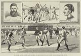 La Crosse Match, played Last Saturday at Kennington Oval, by North of England against South