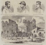 The Revolution in Sicily, the English Battalion at the Foot of the Round Tower of the Citadel of Melazzo