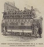 Street Railway-Carriage, patented by GF Train, running at Birkenhead