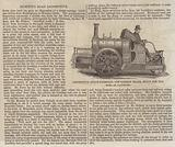 Locomotive Steam-Carriage for Common Roads, built for the Earl of Caithness