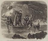 General Garibaldi spearing Fish by Night off Caprera