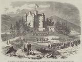 The Gathering of the Highland Clans at Braemar Castle in the Presence of the Prince and Princess of Wales