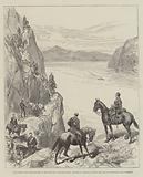 An Easter Volunteer Review in New Zealand, on the March, Southland Hussars passing the Devil's …