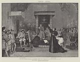 "The Trial of Queen Katharine in Shakspere's ""Henry VIII,"" produced at the Lyceum Theatre, 5 January 1892"