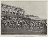 Start for the Cyclists' Ten-Mile Race at Kennington Oval