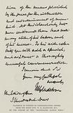 Facsimile of Portion of Congratulatory Letter from the Right Honourable WE Gladstone, MP …