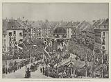 The Royal Golden Wedding in Denmark, the King and Queen receiving Homage of the Corporation …