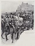 Mr Gladstone driving to West Calder on his First Midlothian Campaign, 27 November 1879
