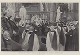 The Funeral of Mr Gladstone, our Future King offering his Condolence to Mrs Gladstone …