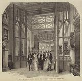 Visit of the Emperor and Empress of the French, the Grand Corridor in Windsor Castle