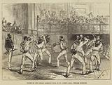 Sports of the London Athletic Club, at St James's Hall, Cutlass Exercise