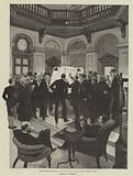 The General Election, announcing the Polls at the Carlton Club