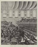 Lord Salisbury addressing the Great Meeting in the Ulster Hall, Belfast